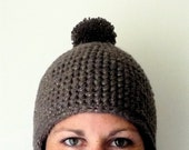 Aviator earflap Hat PDF CROCHET PATTERN easy pom tutorial for her