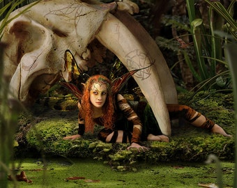 What Secrets Lie in Wildermere by Susan Schroder Fantasy Fairy Art Print