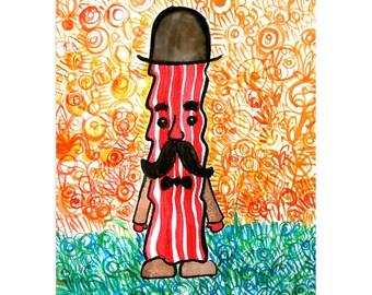 Sir Bacon  - 8x10 Print