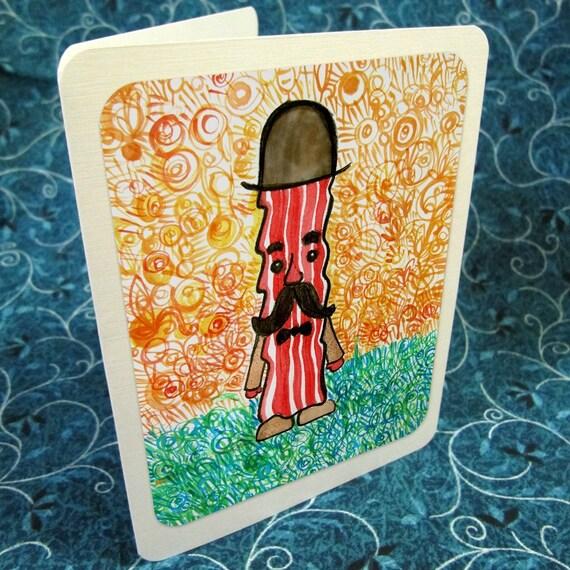 Sir Bacon Greeting Card