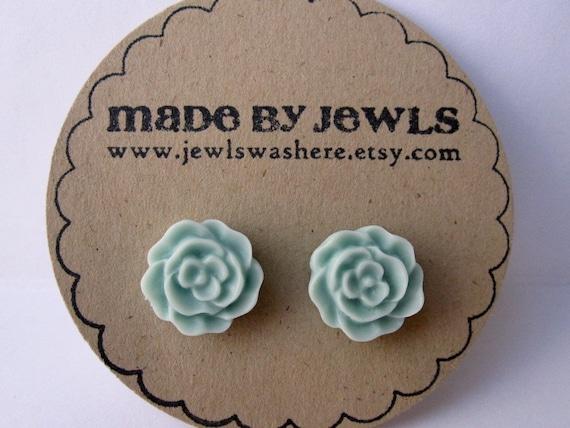 Something Blue Rose Earrings
