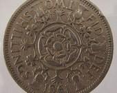VINTAGE 1961 BRITISH ELIZABETH II TWO SHILLINGS COIN