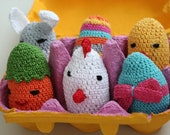 Box of Crochet Eggs