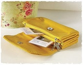 90's Second hand Vintage Wallet - Mustard Clutch