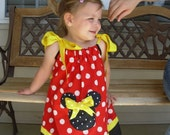 Minnie Mouse Classic Pillowcase Dress (extra for personalization)