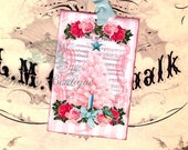 Pink Roses .. Pink Christmas Tree.. Bird .. Sheet Music .. Holly and Berries .. Candle .. Cartouche .. Shabby Cottage .. Gift Tags .. ECS