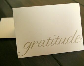 letterpress gratitude thank you notes
