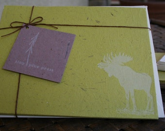Moose Stationery Set (Hand made recycled)