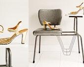 Italian Gold Dancing Shoes -Sz 8.5