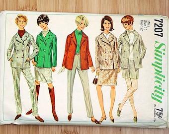 1967 Jacket, Cigarette Pants and Pencil Skirt -size 12