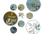 Woodland, 1 inch Circles, Digital Collage Sheet, Download and Print Jpeg Images