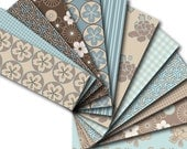 Kimono Digital Paper Pack for Card-Making, Stationary, Book-Covers, Invites, Download and Print Jpeg Images