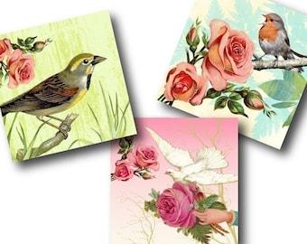Wonderland 1 inch Square Tiles, Digital Collage Sheet, Download and Print Jpeg Images