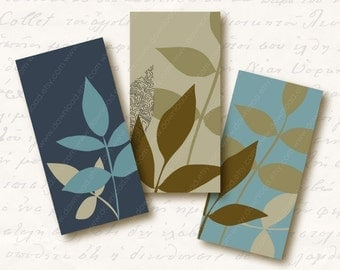 Woodland 1x2 inch Domino Tiles, Digital Collage Sheet, Download and Print Jpeg Images