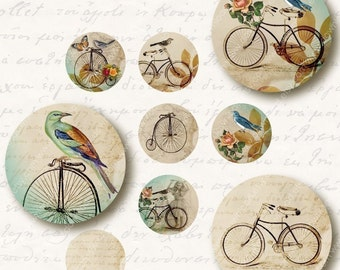 Motion 1 inch Circles, Digital Collage Sheet, Download and Print Jpeg Clip Art Images