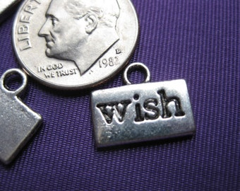 Wish Charm 5 pieces Tibetan Silver Jewelry Supply