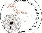 Breezy Dandelion Return Address Labels Stickers