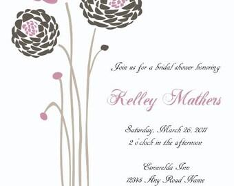 Dahlia Printable Invitation - DIY Design