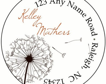 Breezy Dandelion Return Address Labels Stickers