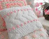 Sweet Cottage Vintage Chenille Accent Throw Pillow