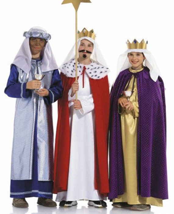 Kids Three Wise Men Costumes for Halloween or Church - Burda 2438 Size 4-14