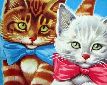 Vintage 60s Cute Cat Puzzle