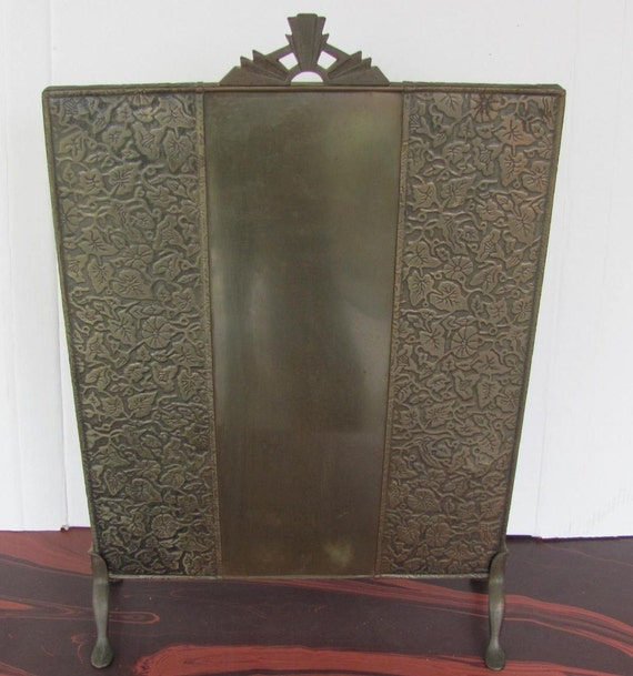 antique screen fireplace deco