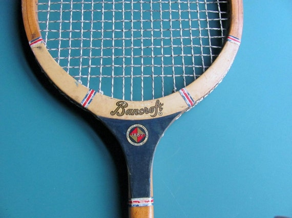 Vintage Bancroft Squash Racket Racquet Streamliner