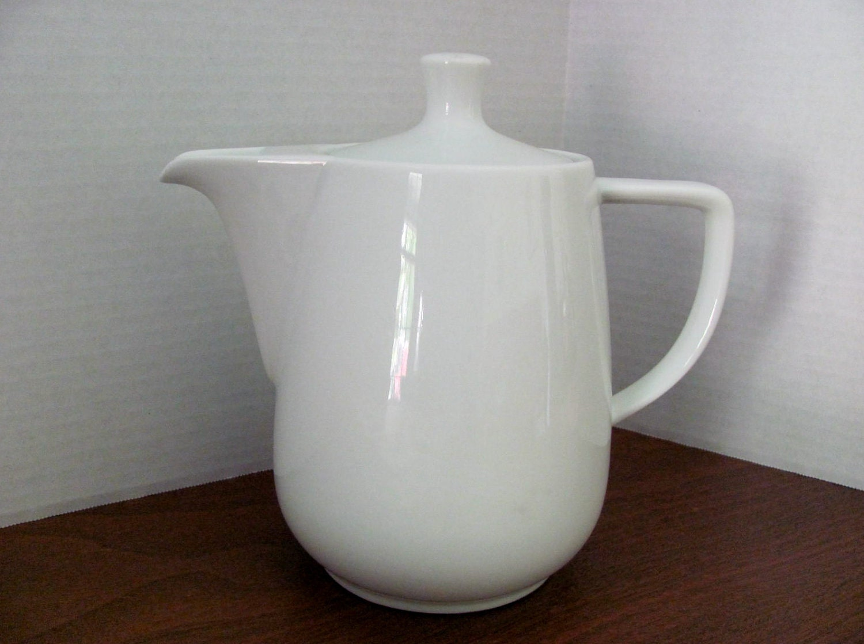 Vintage White Porcelain Melitta Coffee Pot By Petuniapie