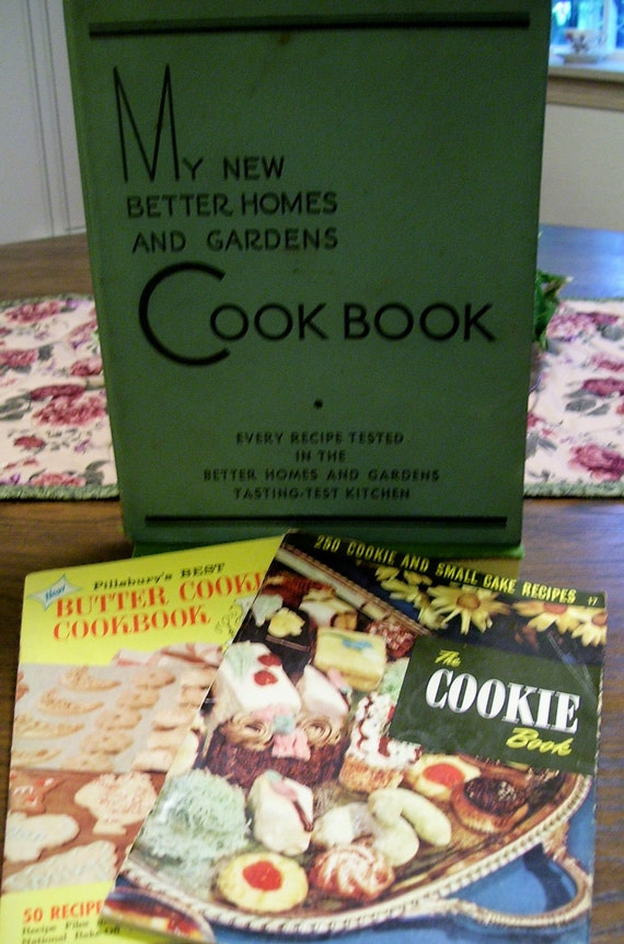 Lot of 3 cookbooks 1930 39 s to 1950 39 s my new better by ladykluk Better homes and gardens latest recipes