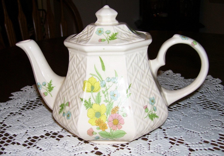 Sadler Teapot Windsor Floral Made In England Vintage By