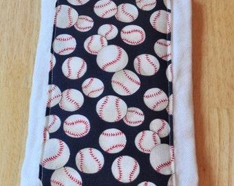 Burp Cloth Baseball Baby Burp Rag, Boy BurpCloth, Burp Rag, Cloth Diaper, Baby Shower Gift