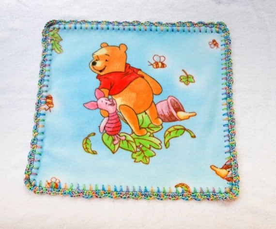 Baby Security Blanket Winnie The Pooh Fleece Blanket With