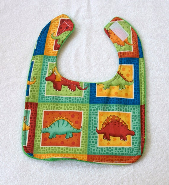 Baby Bibs with Dinosaurs for Feeding Nursing Drool, Boy or Girl Infant Shower Gift