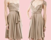 Convertible Dress in Wheat --environmentally friendly