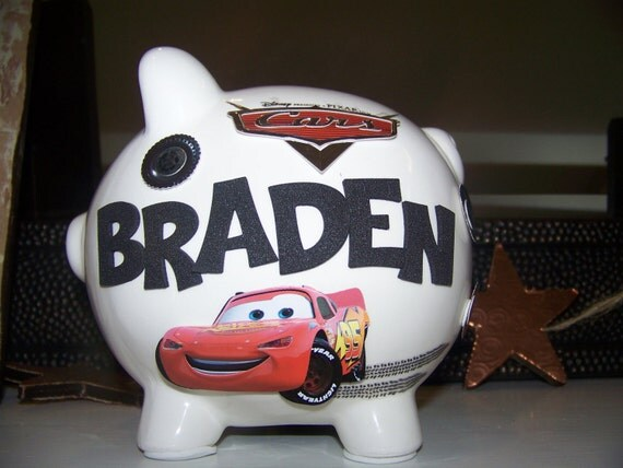 Disney cars piggy bank for boy - Coin banks for boys ...