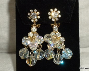 Juliana Rhinestones and Crystal Bead Earrings