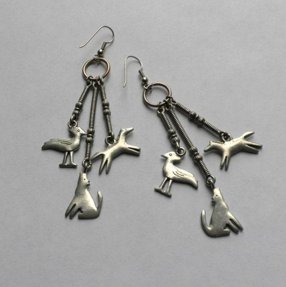 Vintage JJ 1988 Southwestern Dangle Earrings