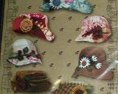 City Stitcher Hats Pattern 4 styles 2 sizes uncut pattern designed by Janet Miller