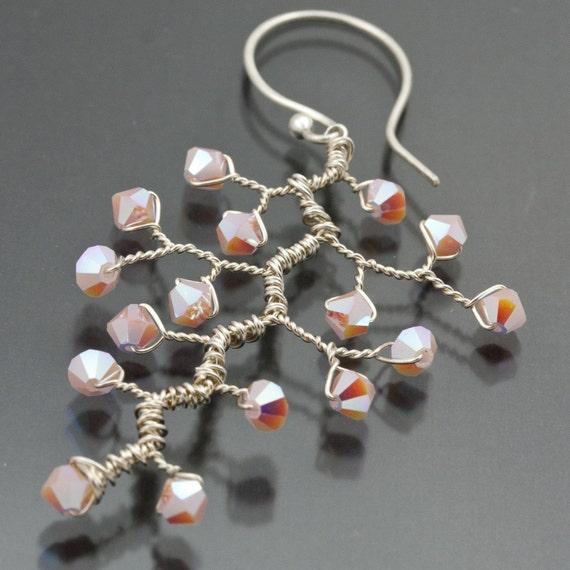 FREE SHIPPING - Branch Earrings  Pretty in Pink