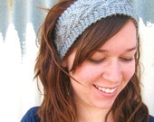 Grey Knitted Headband