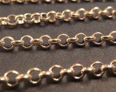 2 ft 3 mm sterling silver bulk italian rolo link chain