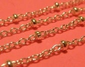 4 ft italian sterling silver satellite / oval link with beads bulk unfinished chain