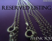 Reserved listing Che'