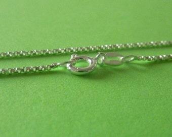 18 inch Sterling silver italian box chain