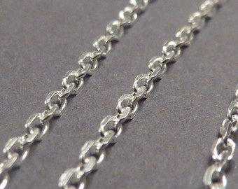 2 pcs 16 inch sterling silver italian anchor chain