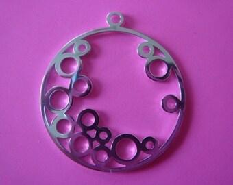 30 mm sterling silver filgree circles pendant charm