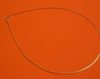Sterling Silver 16 inch Round Omega Necklace chain