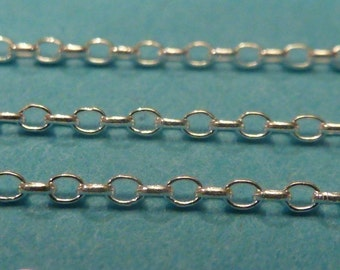 5 ft 1 mm sterling silver unfinished rolo link chain