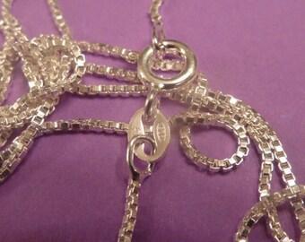 16 inch Sterling Silver box chain 1 mm